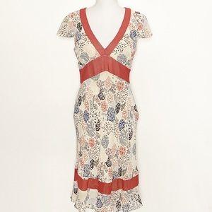BCBGMAXAZRIA-Ruffled Midi Dress. Size Medium